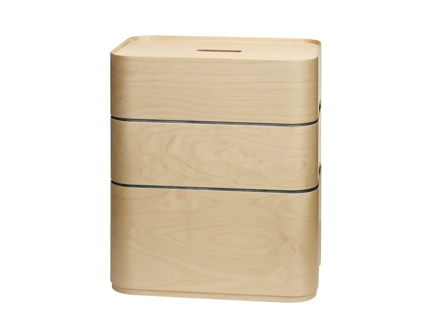 Rectangular wooden bedside table VAKKA | Bedside table - iittala