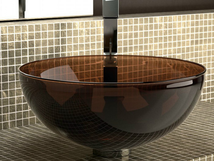 Countertop Murano glass washbasin LAGUNA NIGHT - Glass Design