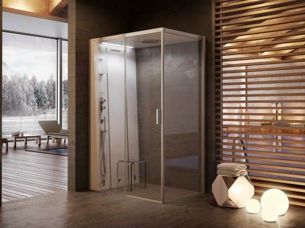 Box doccia multifunzione in cristallo con bagno turco CLOUD 140 ...
