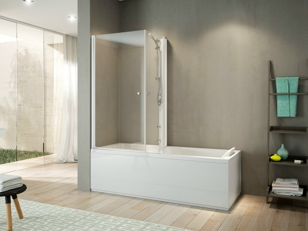 Corner bathtub with shower MIX 70 - Jacuzzi Europe