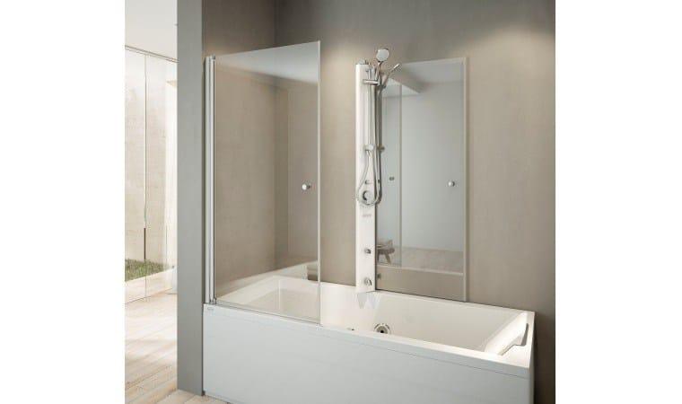 baignoire d 39 angle avec douche mix 80 by jacuzzi europe. Black Bedroom Furniture Sets. Home Design Ideas