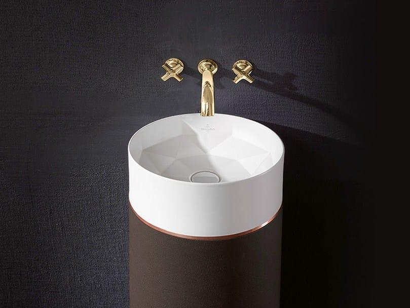 Freestanding TitanCeram washbasin OCTAGON by Villeroy & Boch