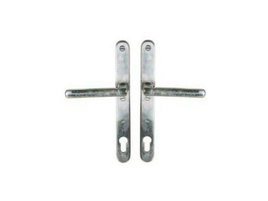Door handle on back plate with lock PVZ TPH 1920 | Door handle with lock - Dauby