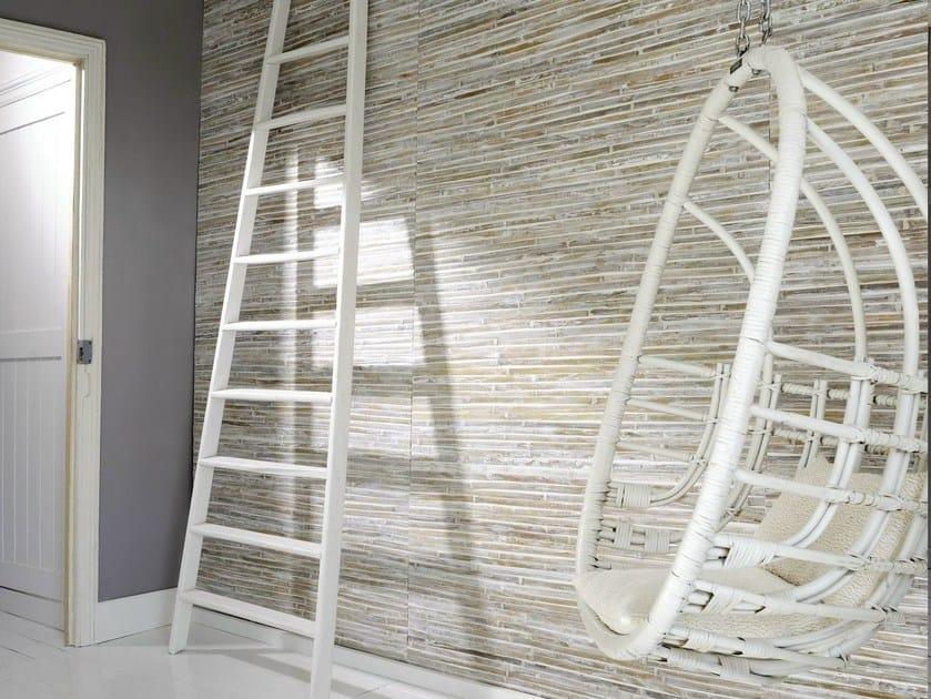 Indoor bamboo wall tiles BATAC by Élitis