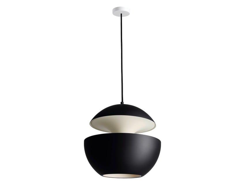 HCS BL–WH Ø450 Black satin aluminium/White ceiling cup/Inside white