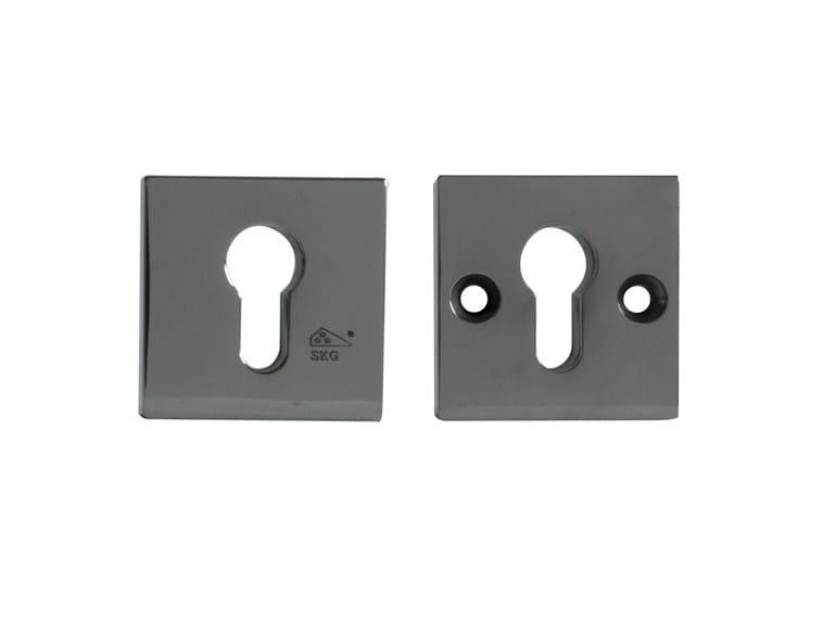 Square metal keyhole escutcheon 10265 | Square keyhole escutcheon - Dauby