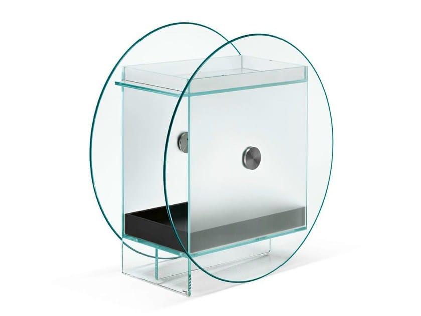 Glass bar cabinet KART - T.D. Tonelli Design