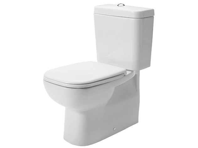 Close coupled ceramic toilet D-CODE | Close coupled toilet by Duravit