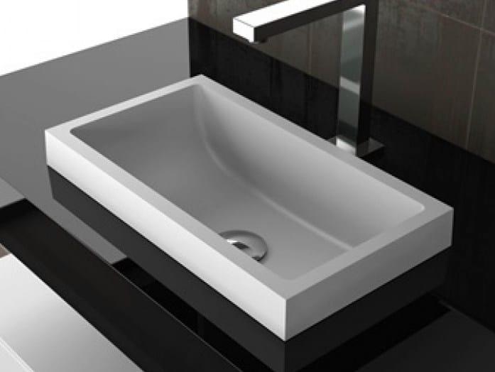 Lavabo da incasso soprapiano rettangolare kosta 1 glass design - Lavabo bagno da incasso ...