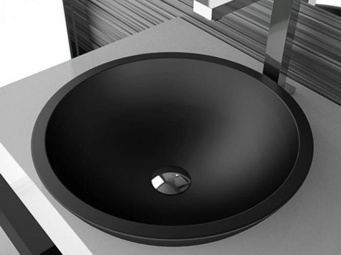 Inset Teknoform® washbasin CIRCUS 43 FL - Glass Design
