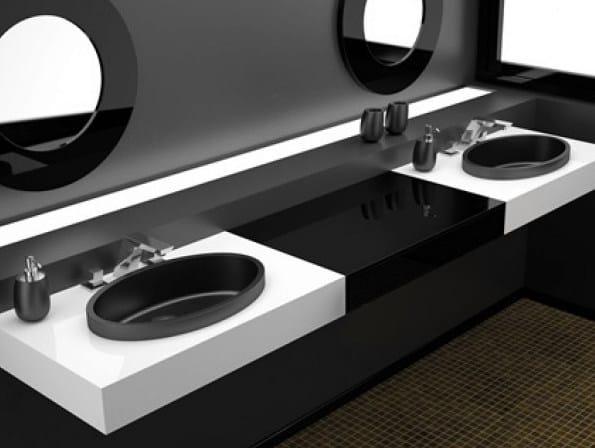 Inset round washbasin ELLISSE FL SMALL - Glass Design