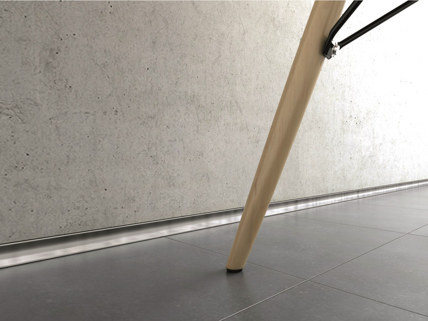 Aluminium Skirting board METAL LINE AF/1 M-DESIGN by PROFILPAS