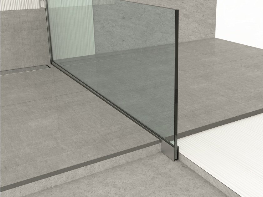 Aluminium edge profile for floors GLASS PROFILE GU - PROFILPAS