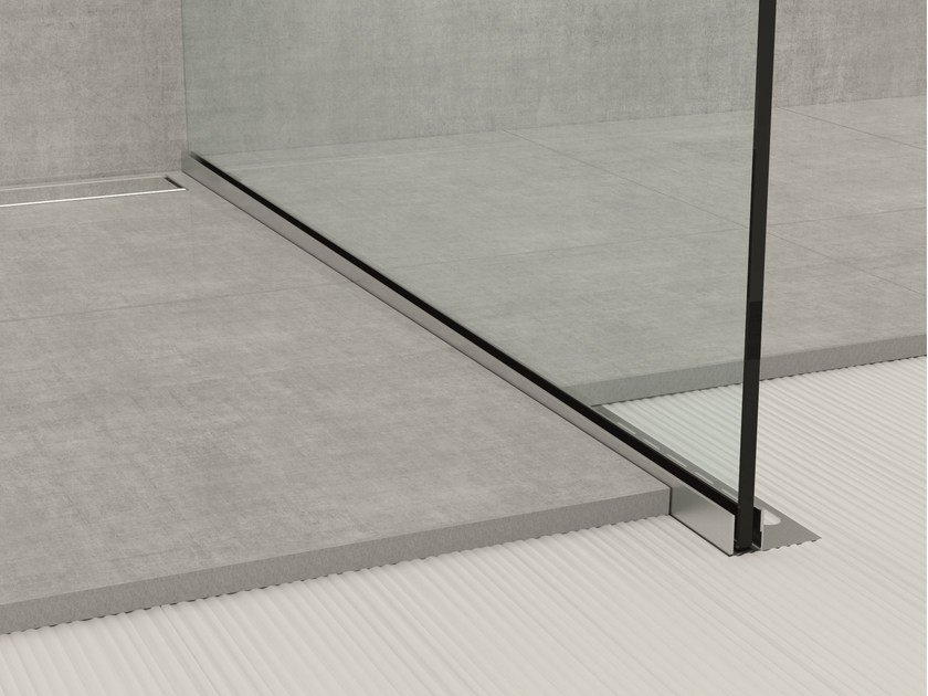 Stainless steel edge profile for floors GLASS PROFILE GPS1 by PROFILPAS