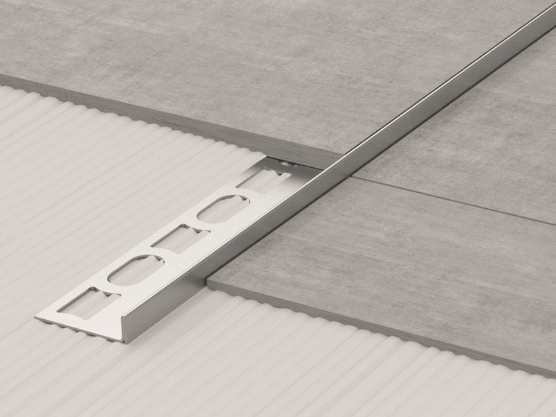 Stainless Steel Floor Inlays : Stainless steel edge profile for floors glass gps