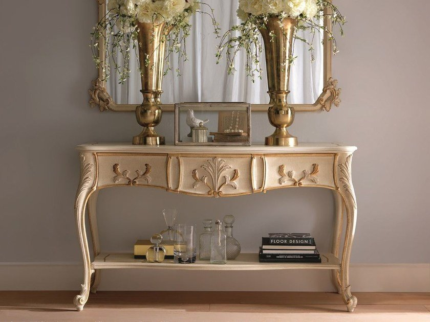 Wooden console table with drawers 2490 | Console table with drawers - Grifoni Silvano