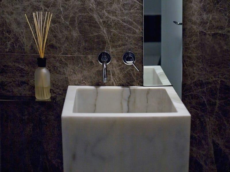 Freestanding single marble washbasin BLOCK by FranchiUmbertoMarmi