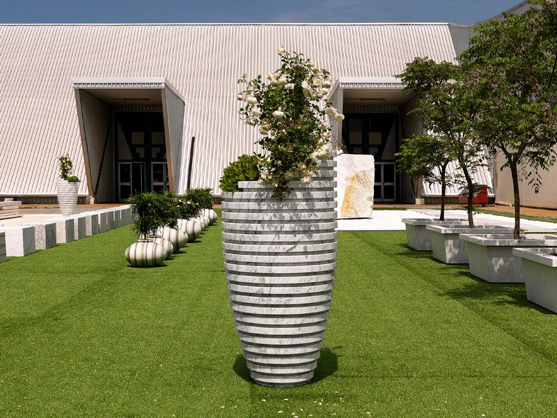 Marble Flower pot ECLIPSE - FRANCHI UMBERTO MARMI