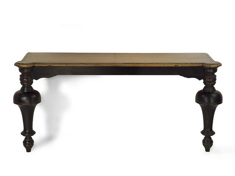 Rectangular solid wood console table TOWER | Wooden console table by MARIONI