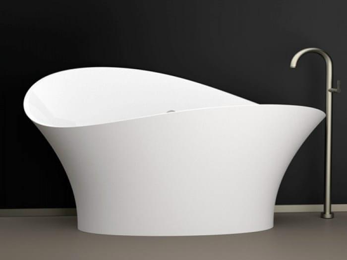 Freestanding bathtub FLOWER STYLE WHITE - Glass Design