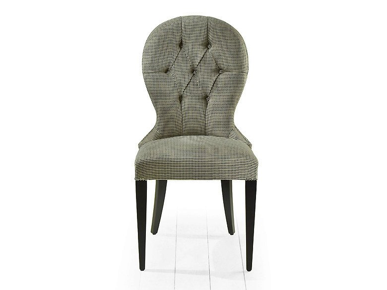 Tufted upholstered fabric chair OSAKA | Tufted chair - MARIONI