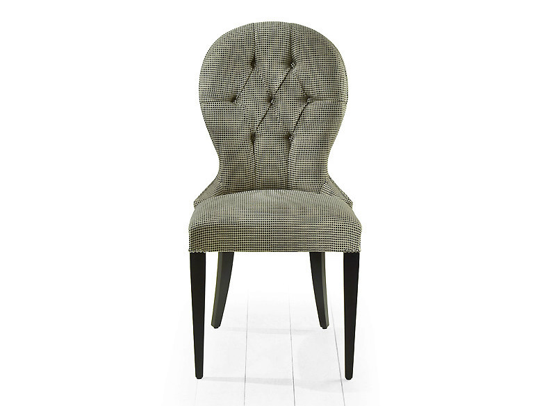 Tufted upholstered fabric chair OSAKA   Tufted chair - MARIONI