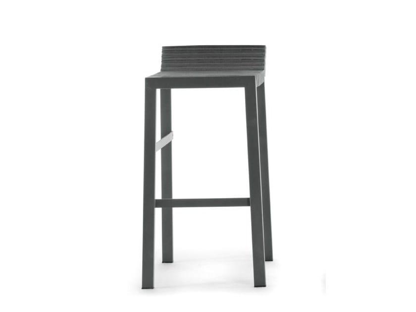 High felt stool with footrest STEPS | High stool by Lago