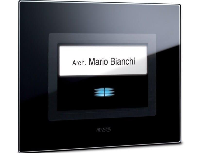 Glass doorbell button LIFE TOUCH | Doorbell button - AVE