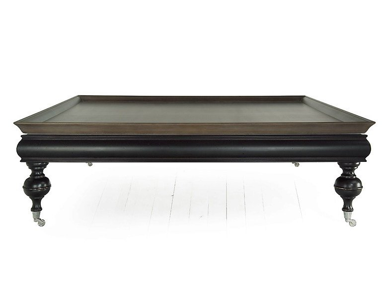 Low square solid wood coffee table THOR | Square coffee table - MARIONI