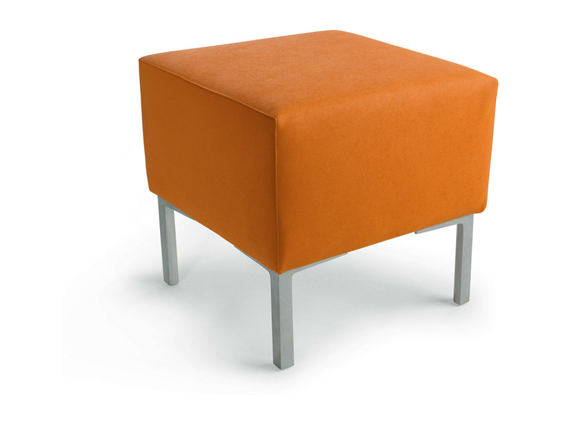 Upholstered imitation leather pouf 4 EVER - Gamma & Bross