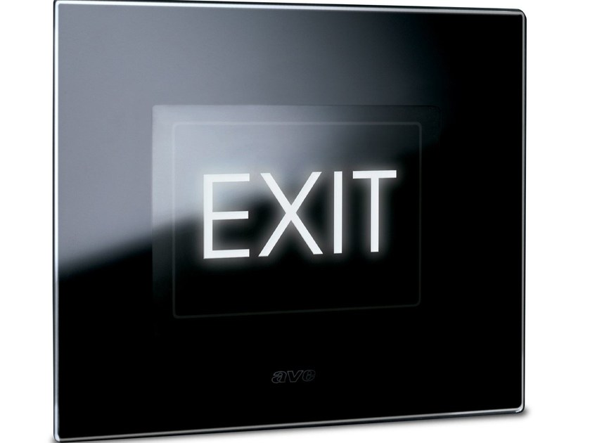 Glass emergency light for signage LIFE TOUCH | Emergency light for signage - AVE