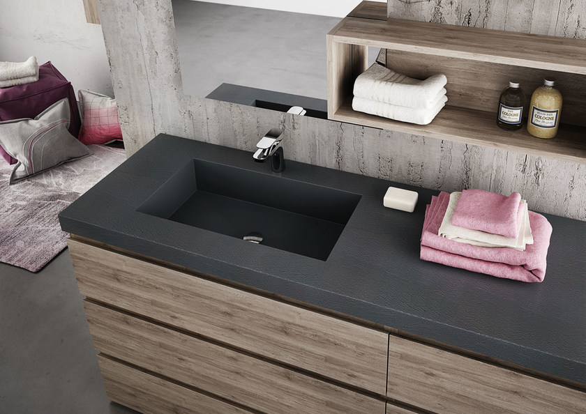 Sectional single vanity unit FREEDOM 10 by LEGNOBAGNO