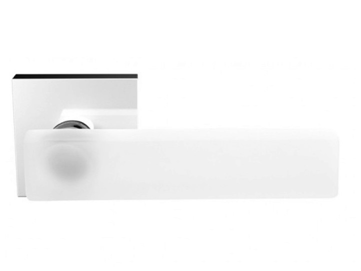 Crystal door handle with brushed finishing KEA HOME BRUSHED - Glass Design