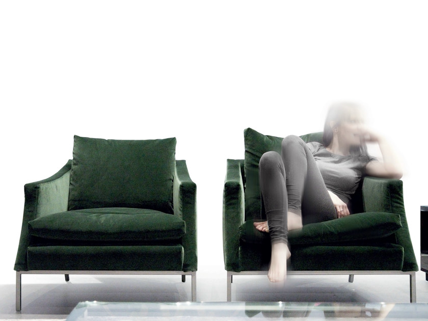 Upholstered armchair with armrests LEGENDA - ERBA ITALIA