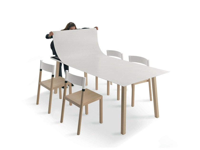 Rectangular polycarbonate table COMFORT - Lago