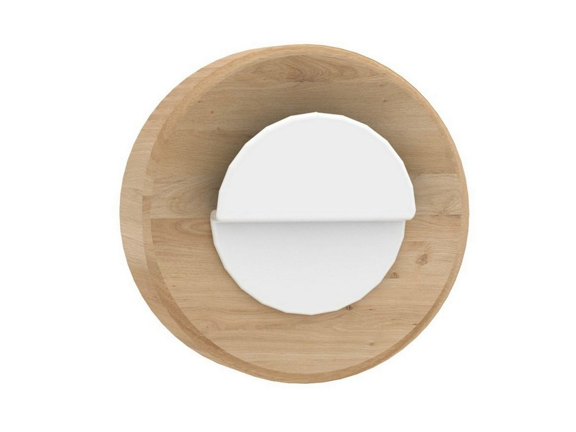 Oak and metal wall hook AGENT SOLO by Universo Positivo