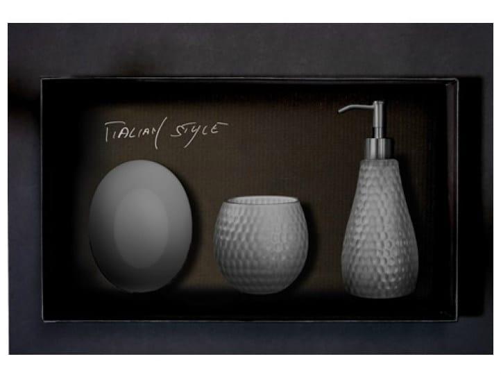 Countertop Vetro Freddo® soap dish GOLF SET FUMÈ - Glass Design