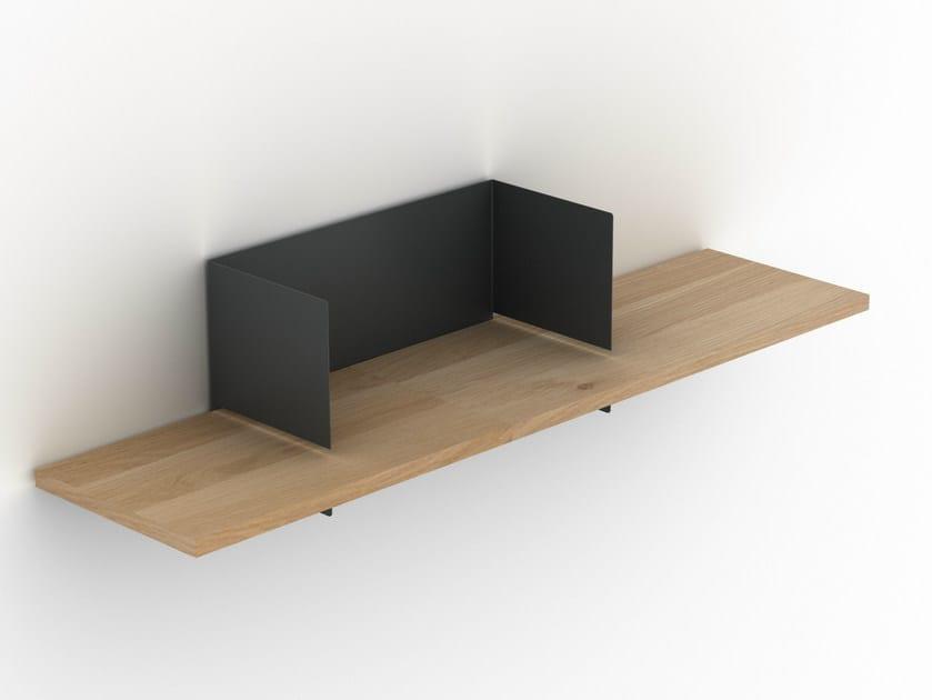 Oak and metal wall shelf CLIP WALL SHELF MEDIUM - Universo Positivo