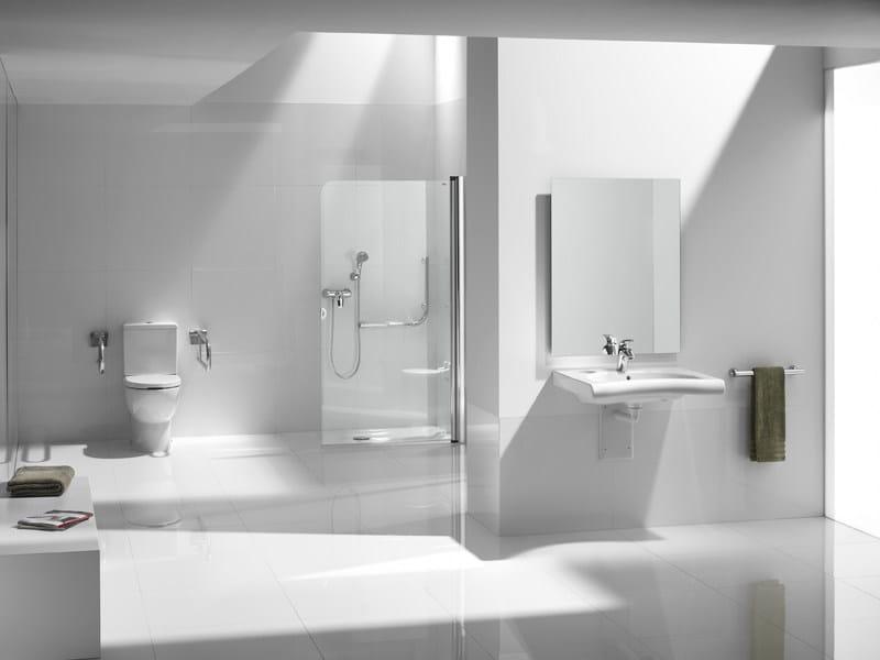 New meridian lavabo pour handicap s by roca sanitario Lavabo minusvalidos roca