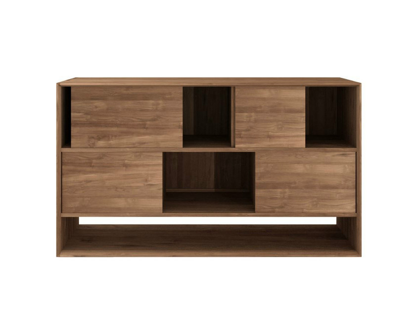 Teak rack with sliding doors TEAK NORDIC | Sideboard - Ethnicraft