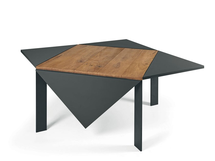 Square wooden table LOTO by Lago