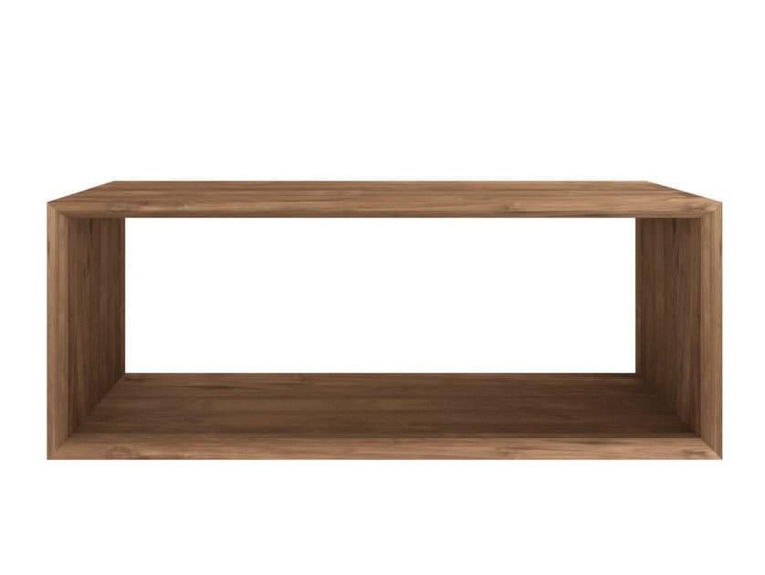 Rectangular teak coffee table TEAK CUBE | Rectangular coffee table by Ethnicraft