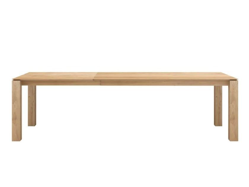Extending rectangular oak table OAK SLICE | Extending table - Ethnicraft