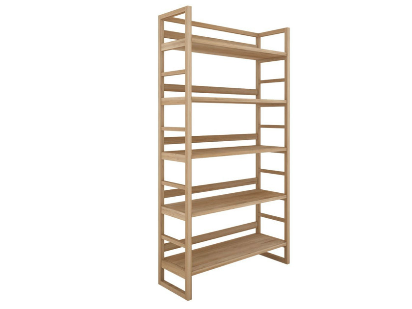 Open oak bookcase OAK SKELET | Open bookcase - Ethnicraft
