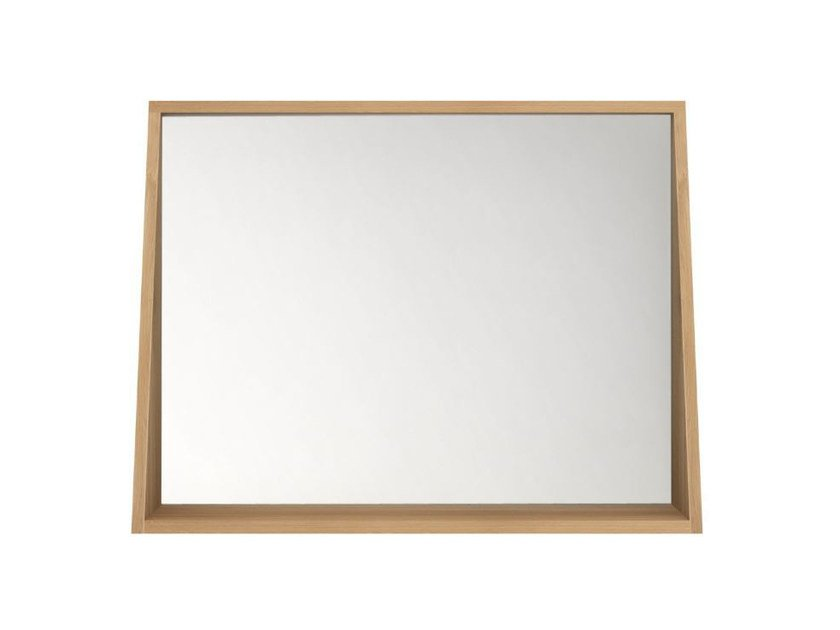 Wall-mounted framed bathroom mirror OAK QUALITIME | Framed mirror by Ethnicraft