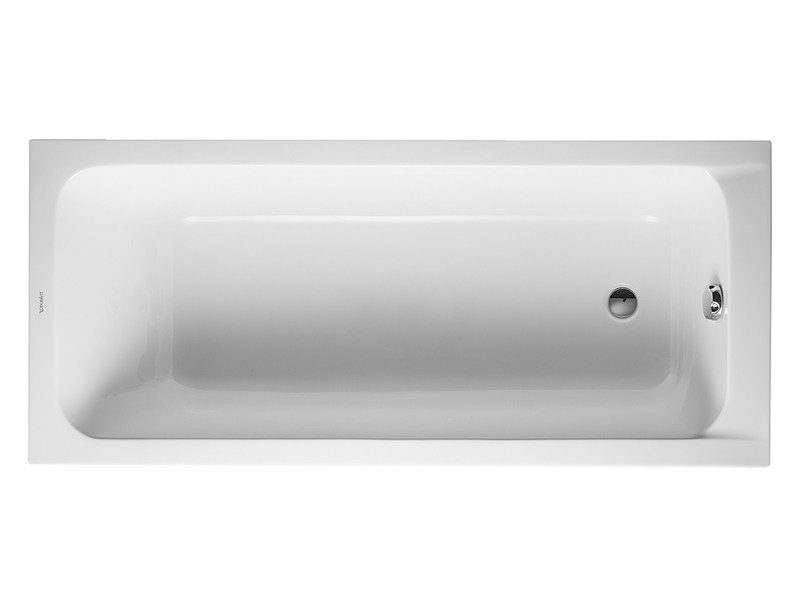 Built-in acrylic bathtub D-CODE | Built-in bathtub - DURAVIT