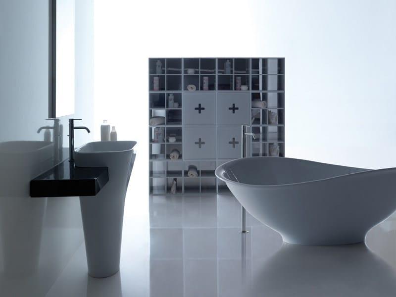 Vasca da bagno centro stanza in pietraluce meg11 vasca da bagno galassia - Galassia arredo bagno ...