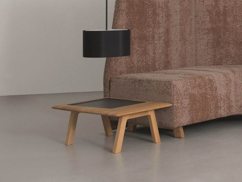 Low wooden side table SIDE COMFORT TABLE - ZEITRAUM