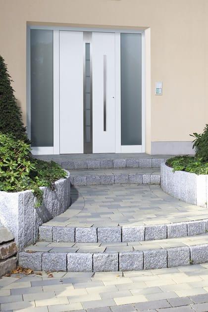 Porta d 39 ingresso blindata in acciaio con pannelli in vetro for Ingresso ville moderne