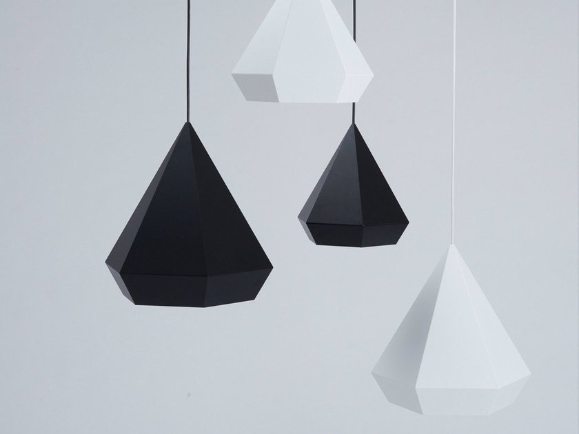 Powder coated aluminium pendant lamp DIAMOND - NEO/CRAFT
